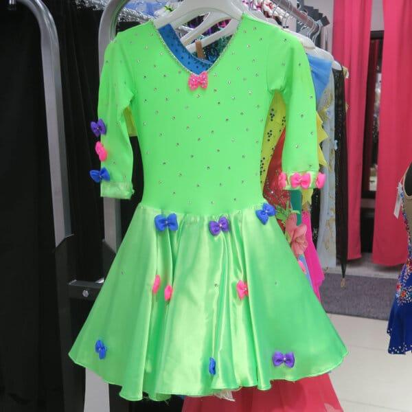 Платье зеленое Цирк (рост 130-140)