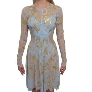 Платье Голубое с золотом (рост 160-172см)